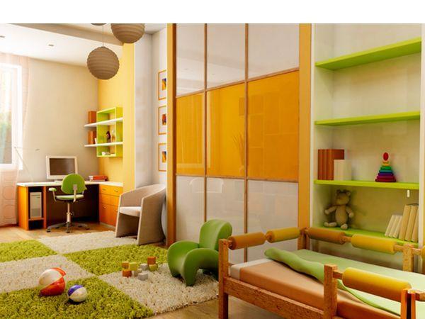 Шкаф-купе в интерьере детской комнаты