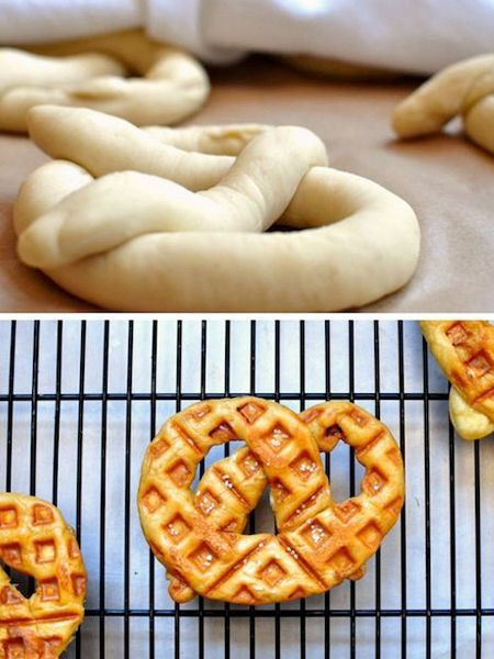 1. Ароматные крендели не обязательно выпекать в духовке. Их можно приготовить в вафельнице.