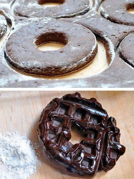 6. Пончики можно также запечь в вафельнице. При таком способе они будут менее калорийными.