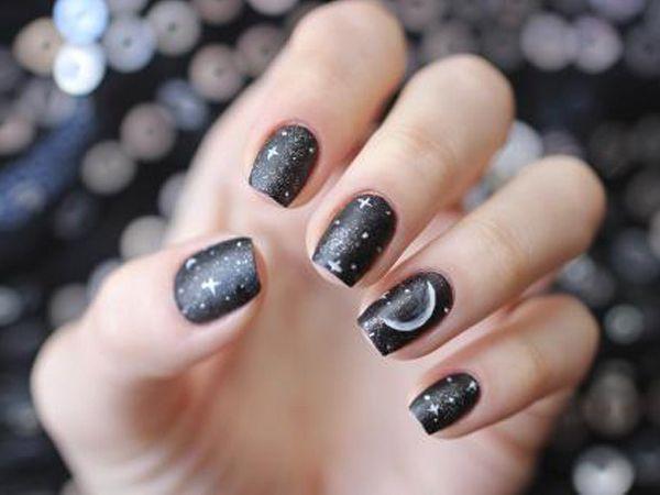 Фото ногти звездочки