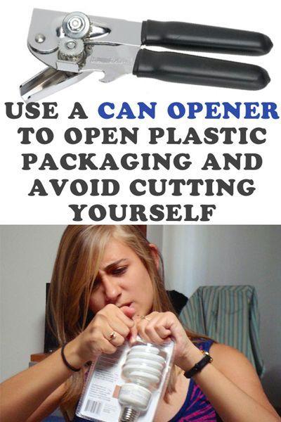 Трубно открыть пластиковую упаковку? Вам поможет обычный консервный ключ!