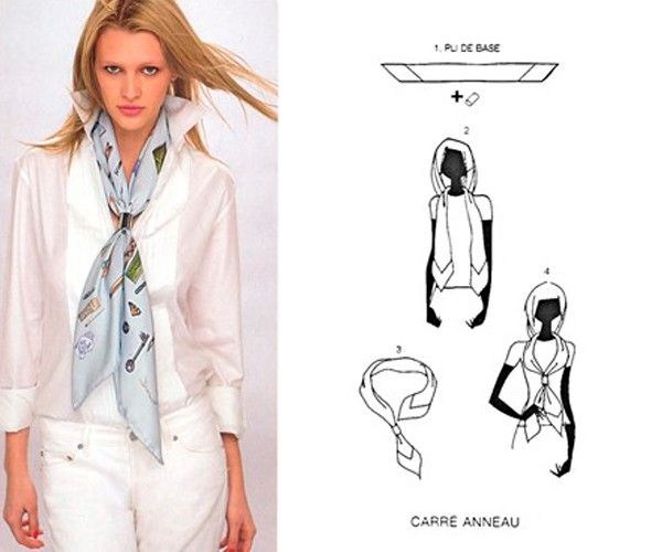 Способы завязать шарф или платок