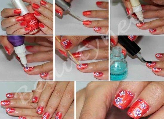 Цветы на ногтях, мастер-классы.