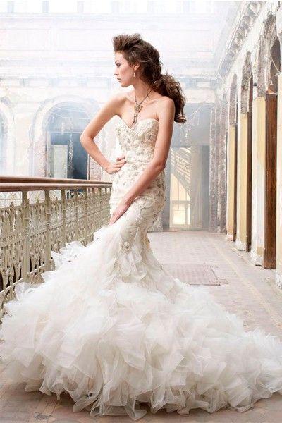 Свадебные платья в стиле Русалка, идеи.
