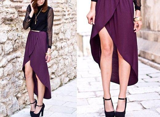 5. Асимметричные юбки. Такие модели больше не актуальны.