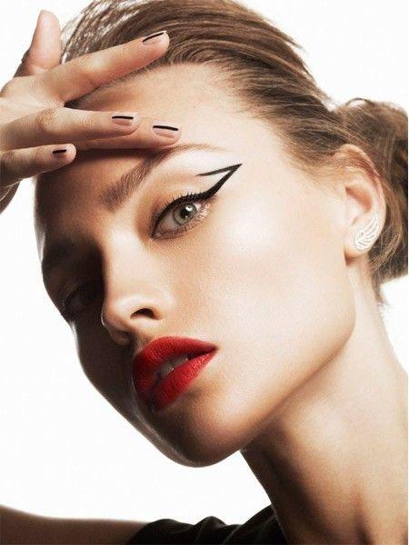 Идеи макияжа с красной помадой