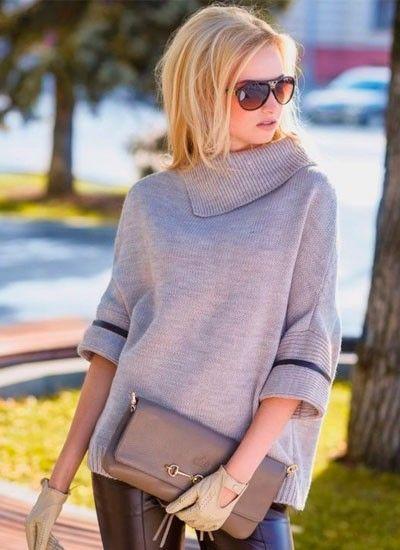 6. Свободные и удобные пуловеры отлично подойдут для девушек, которые ведут активный образ жизни. Такой предмет не стесняет движений и позволяет быть в центре самых модных тенденций.