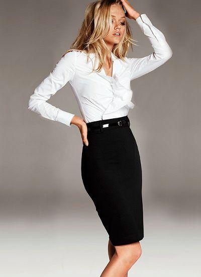 9. Классическая юбка чуть ниже колена остается в тренде и в 2016 году. Прямая юбка занимает почетное место в рейтинге модных вещей 2016 года. Она идеальна для корпоративного стиля и для вечернего ужина.