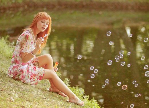 Фотосессия с мыльными пузырями