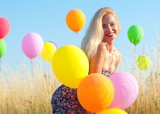 Фотосессия с шарами