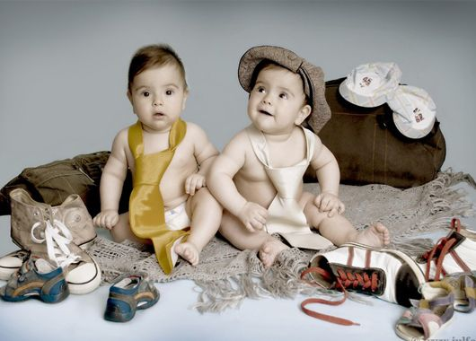 Фотосессия с детьми близнецами