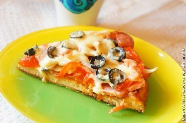 рецепт пиццы на готовом бездрожжевом тесте с фото