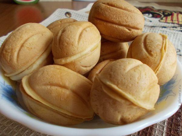 Орешки с белковым кремом рецепт 155