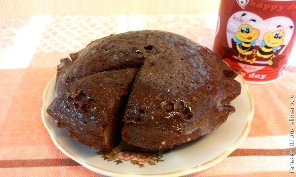 Шоколадный бисквит «Пушистик» в микроволновке за 5 минут