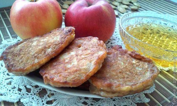 рецепт оладьев из овсянки и яблок