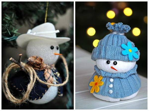 А как вам снеговик-ковбой и милая девчушка?