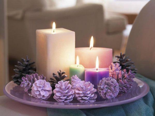 Согласитесь, что свечи добавят особую изюминку в новогодний вечер, ведь благодаря им можно создать сказочную атмосферу.
