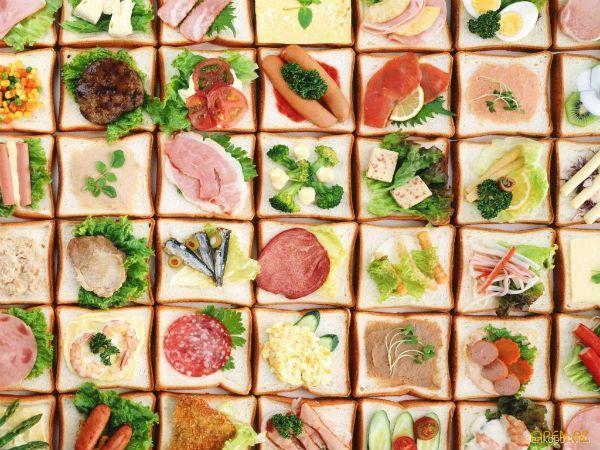 А если не хотите однообразия, можно сделать каждый бутерброд неповторимым.