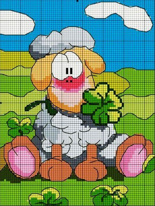 Замечательная овечка – немного удивленная, немного смешная. Пусть и наступивший год будет таким – удивляет нас только приятными сюрпризами.