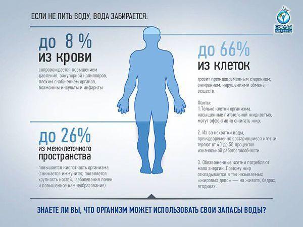 Некоторые диетологи считают, что если человек испытывает жажду, то это говорит уже об обезвоживании. Так что не забывайте пить чистую воду.