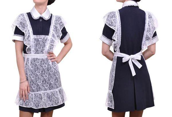 Вы еще застали школьную форму? Белый фартук мы надевали по праздникам, а черный был на каждый день. А еще были манжеты и воротнички, которые мама отпарывала, стирала и снова пришивала каждую неделю.