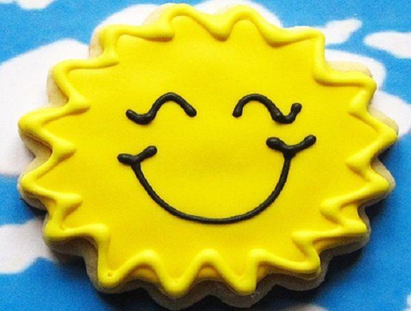 Печенье-солнышко.