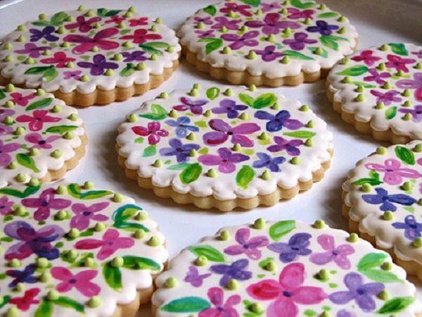 Цветочное печенье.