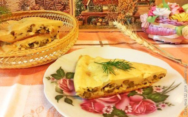 Пирог с зеленым луком рецепт