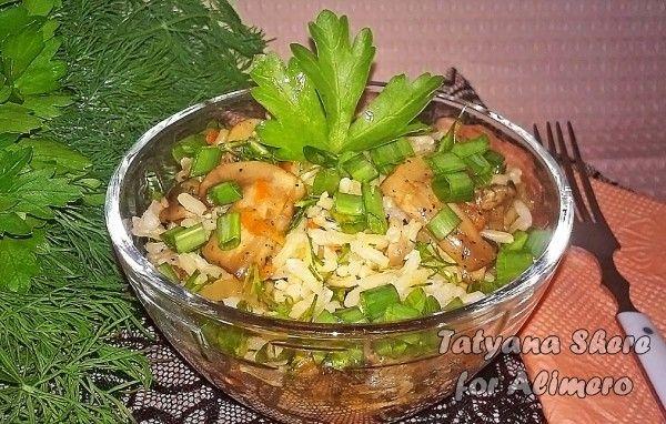 рис с грибами рецепт