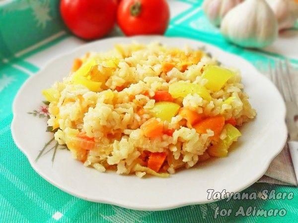 рис с болгарским перцем рецепт