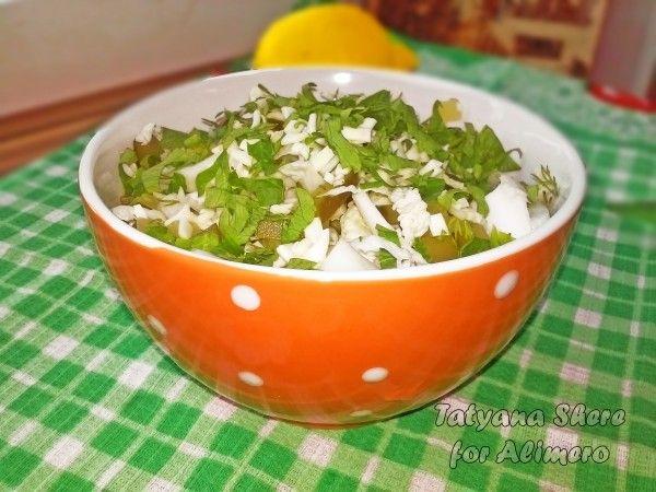 Салат из пекинской капусты и сулугуни