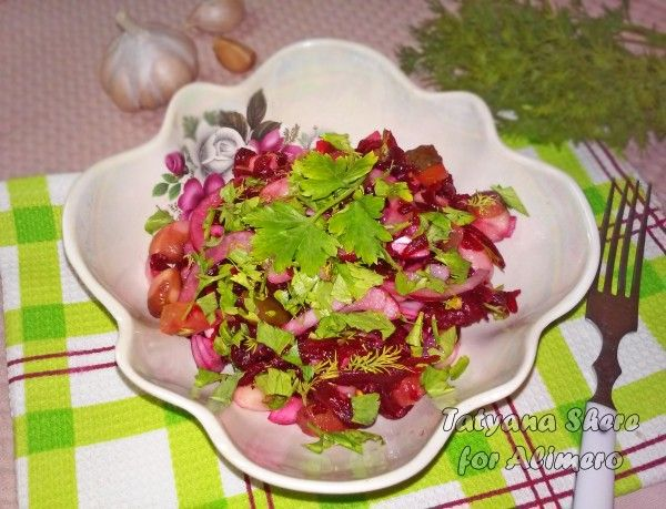 Салат со свеклой и фасолью