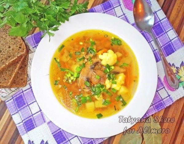 Суп с грибами