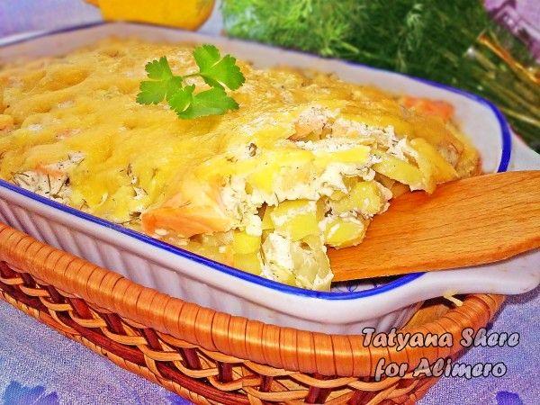 семга с картошкой в духовке рецепты