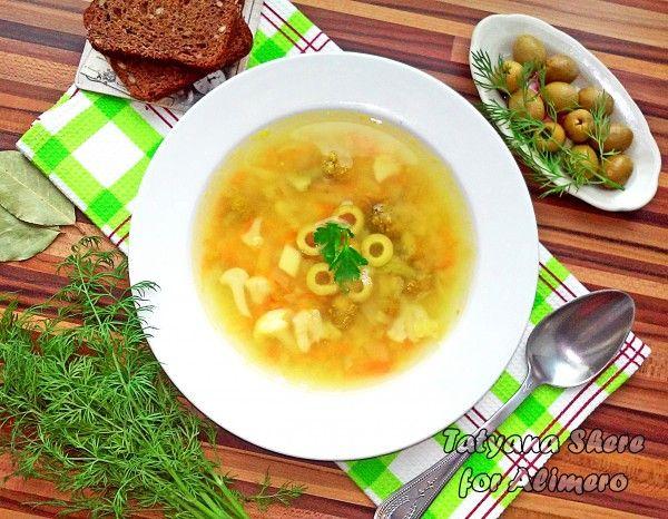 Гороховый суп с оливками