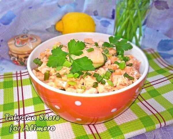 салат рыбка с семгой рецепт слоями