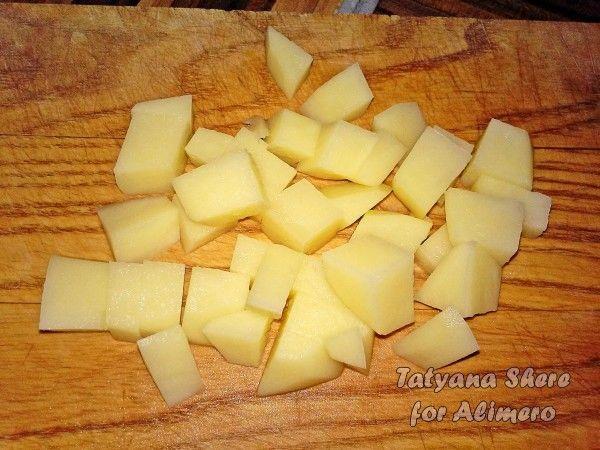Сырный суп с сёмгой