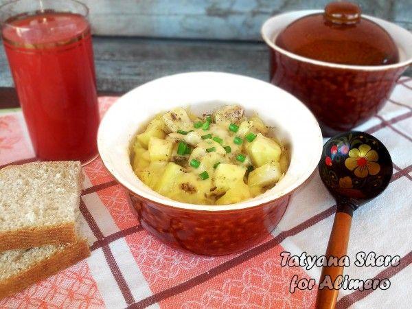 Картошка в горшочках с капустой