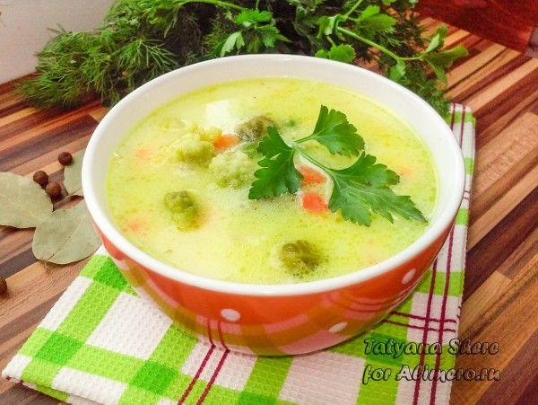 как приготовить сырный суп с овощами