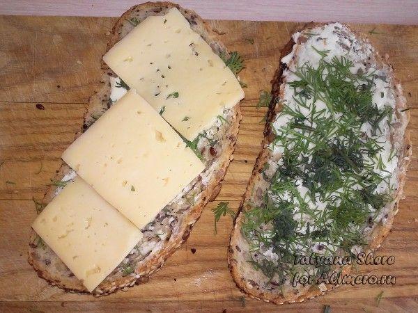 Гренки с сыром
