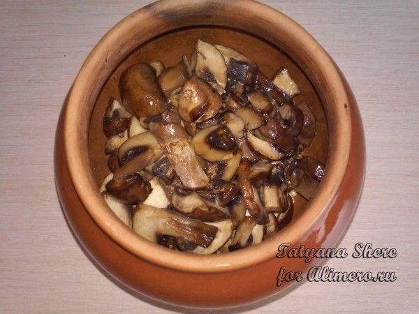Кукурузная каша с грибами