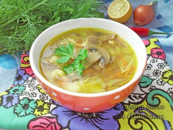 грибной крем суп из вешенок рецепт