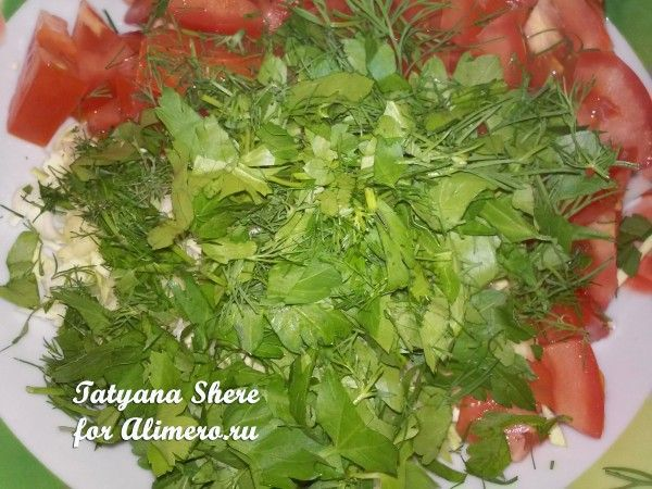 Салат из свежей капусты с фасолью