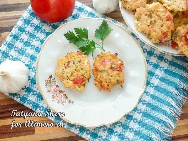 Котлеты с рисом и помидорами