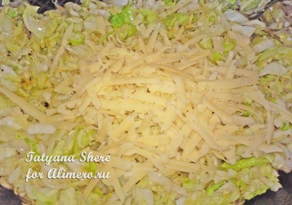 Слойки с сыром и капустой