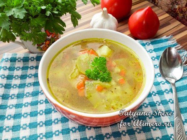 Суп из кабачков запеченных