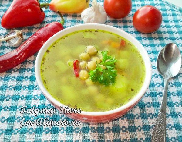 Овощной суп с нутом