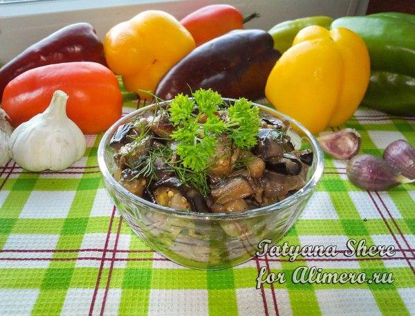 Блюда из баклажанов грибов и лука — pic 4