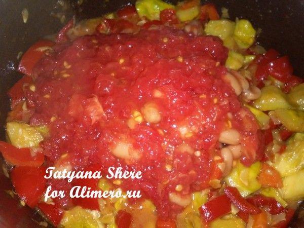 Овощное рагу с рисом