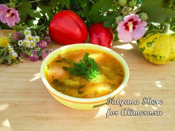 вегетарианский суп харчо с орехами рецепт